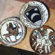 Terracota plates hand painted